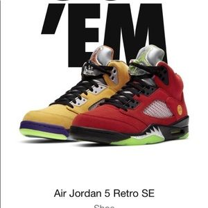 Jordan 5 retro SE 'what the' size 12